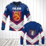 Finland Coat Of Arms Lucian Style All Over Print Hoodies