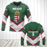 Hungary Coat Of Arms Lucian Style All Over Print Hoodies