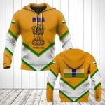 India Coat Of Arms Lucian Style All Over Print Hoodies