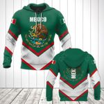 Mexico Coat Of Arms Lucian Style All Over Print Hoodies
