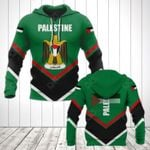 Palestine Coat Of Arms Lucian Style All Over Print Hoodies