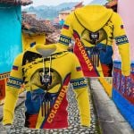 Colombia Skull - Coat Of Arms All Over Print Shirts