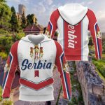 Serbia New Style - Coat Of Arms All Over Print Shirts