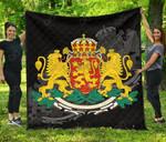 Bulgaria Coat Of Arms Premium Quilt