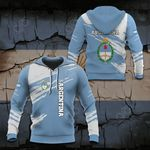 Argentina Flag And Coat Of Arms Paint Style All Over Print Hoodies
