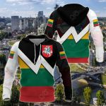 Lithuania Coat Of Arms Style All Over Print Shirts