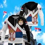 Serbia Coat Of Arms Style All Over Print Shirts