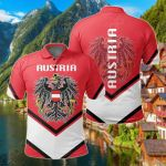 Austria Coat Of Arms Lucian Style All Over Print Polo Shirt