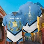 Guatemala Coat Of Arms Lucian Style All Over Print Polo Shirt