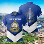 Honduras Coat Of Arms Lucian Style All Over Print Polo Shirt