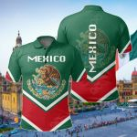 Mexico Coat Of Arms Lucian Style All Over Print Polo Shirt