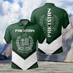 Pakistan Coat Of Arms Lucian Style All Over Print Polo Shirt