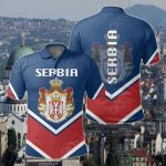 Serbia Coat Of Arms Lucian Style All Over Print Polo Shirt