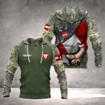 Customize Austrian Army Coat Of Arms And Flag All Over Print Hoodies