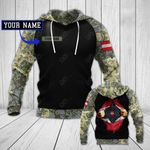 Customize Austrian Army In Heart All Over Print Hoodies