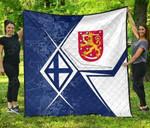 Finland Coat Of Arms Legend Premium Quilt