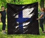 Finland Special Grunge Style Premium Quilt