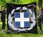 Greece Coat Of Arms Quality Premium Quilt