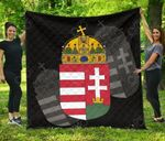 Hungary Coat Of Arms Quality Premium Quilt