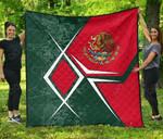 Mexico Coat Of Arms Legend Premium Quilt