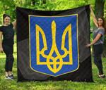 Ukraine Coat Of Arms Quality Premium Quilt