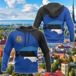 Estonia Map Special All Over Print Hoodies