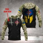 Customize Ukraine Army Mask Style All Over Print Hoodies