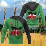 Kenya Map Special All Over Print Hoodies