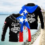 Customize Coqui Frog With Flag Puerto Rico All Over Print Hoodies