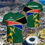 South Africa Strong Flag All Over Print T-shirt