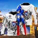 Customize Puerto Rico Frog & Flag All Over Print Hoodies