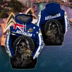 Australia Skull All Over Print Hoodies