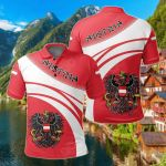 Austria Coat Of Arms Cricket Style All Over Print Polo Shirt