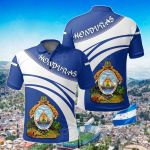 Honduras Coat Of Arms Cricket Style All Over Print Polo Shirt