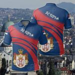 Serbia Coat Of Arms Cricket Style All Over Print Polo Shirt