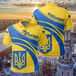 Ukraine Coat Of Arms Cricket Style All Over Print Polo Shirt