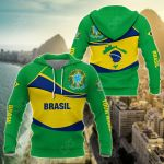 Customize Brasil Wave Style All Over Print Hoodies