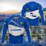 Customize El Salvador Wave Style All Over Print Hoodies