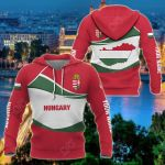 Customize Hungary Wave Style All Over Print Hoodies