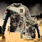 Custom Name U.S.Army Symbol Camo All Over Print Hoodies