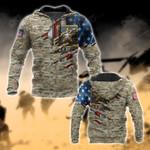 U.S.Army Symbol Flag Camo 3D All Over Print Hoodies