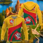 Lithuania Coat Of Arms Version All Over Print Shirts