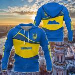 Customize Ukraine Wave Style All Over Print Hoodies