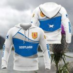 Customize Scotland Wave Style All Over Print Hoodies
