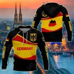 Customize Germany Wave Style All Over Print Hoodies