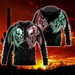 Mexico Double Skull All Over Print Hoodies