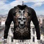 Mexico - Mexican Aztec Skull All Over Print Shirts