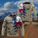 Customize Texas Flag Camo 3D All Over Print Hoodies