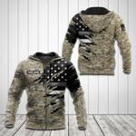 Customize US Correction Flag Camo 3D All Over Print Hoodies