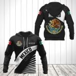 Customize Mexico Coat Of Arms Black Style All Over Print Hoodies